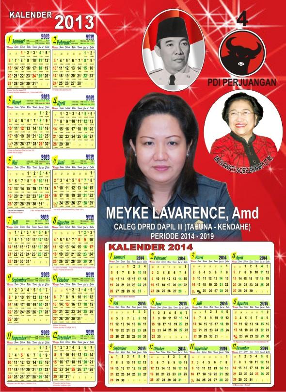 Contoh Kalender Caleg Pdip